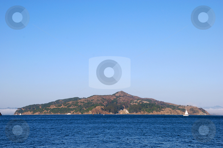 Angel Island in San Francisco Bay stock photo, Angel Island in San Francisco Bay, California on a sunny day. by Denis Radovanovic