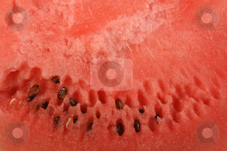 Red background of ripe watermelon. stock photo, Red background of ripe watermelon. Close-up. by Andrey Khritin