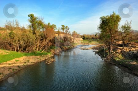 River in Arcadia, Greece stock photo, Landscape image of a river in Arcadia, southern Greece by Andreas Karelias