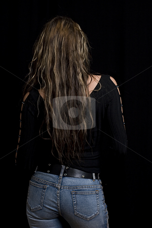 Back view stock photo, Young women turning her back to the viewer by Yann Poirier
