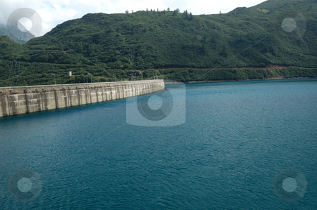Hydroelectric Dam stock photo, The hydroelectric Dam and lake of Morasco (Italy) by ALESSANDRO TERMIGNONE