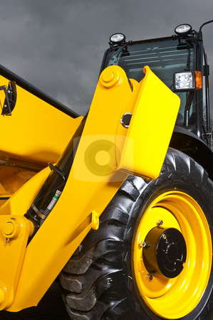 Side stud stock photo, Side stud of a heavy duty wheel loader by Corepics VOF