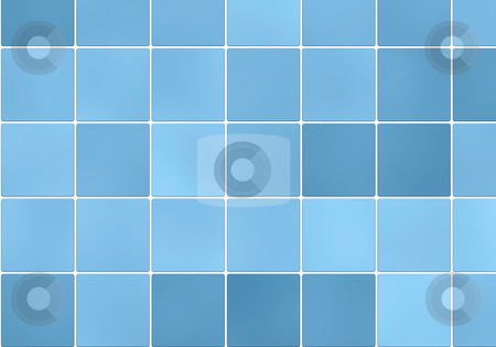 Blue square tile stock photo, Tile pattern and background by Monica Boorboor