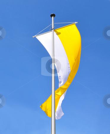 Flag of catholic church stock photo, Flag of catholic church by Robert Biedermann