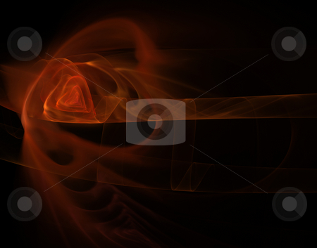 Heart stock photo, Abstract background illustration - red foggy waves forms a heart by J?