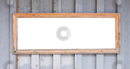 Blank Sign stock photo, A close up on an old blank sign. by Travis Manley