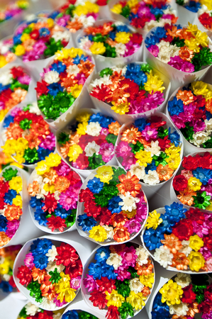 Small flowers bouquets. stock photo, Small flowers bouquets sold at the Ramblas, in Barcelona, Spain. by Anibal Trejo