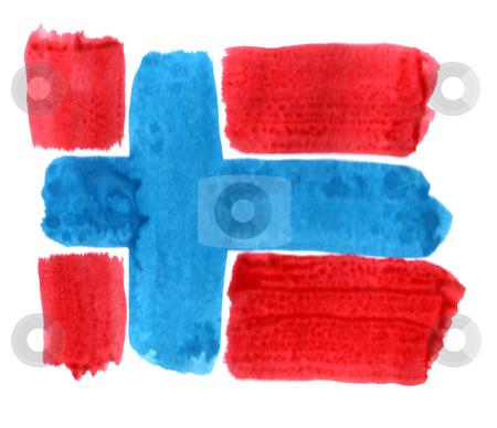 Norway stock photo, Brushed norway flag on white background by J?
