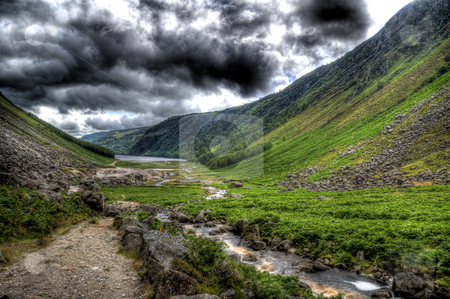 From the bottom of Glendalough stock photo, A view from the bottom of Glendalough by Stephen Kiernan