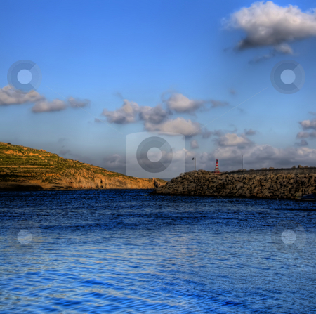 Docks on Gozo stock photo, An image of the docks on the coast of Gozo by Stephen Kiernan