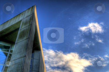 Building against sky backdrop. stock photo, Building pointing to the sky by Stephen Kiernan