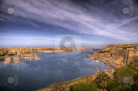 A Maltese Bay stock photo, A busy port on the coast of Malta by Stephen Kiernan