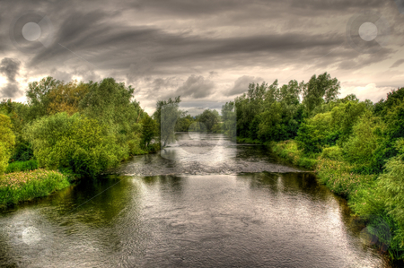 River Shannon on a cloudy day stock photo, An image of the river shannon in Limerick, Ireland on an overcast day by Stephen Kiernan