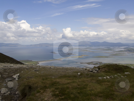Clew Bay In Ireland stock photo, A scenic view of Clew Bay in Mayo Ireland. by Stephen Kiernan