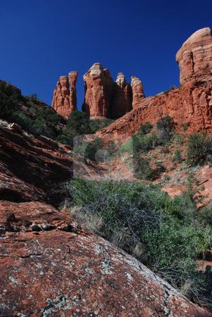 The Fingers stock photo, USA, Arizona, Sedona, Cathedral Rock,