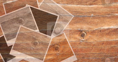Vintage image transparent stock photo, Transparent wooden vintage image panel with different exposures by Karin Claus