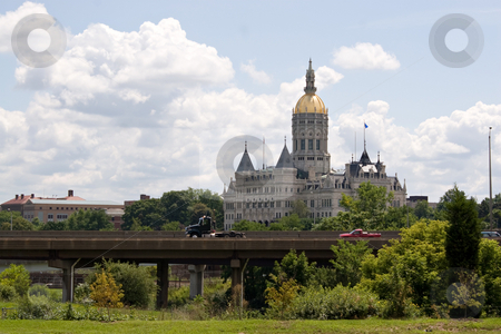 Hartford Capital Building stock photo, The golden domed capitol building in Hartford Connecticut. by Todd Arena
