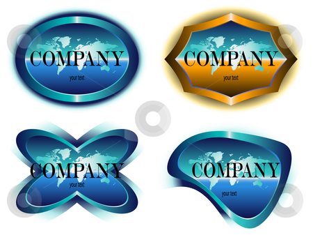 Company label design stock vector clipart, Vector logo for companys, agencies - design emblem by danielboom