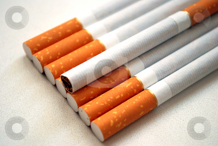 Cigarettes stock photo, Cigarettes with flavor filter by Skovoroda