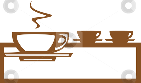 Line of Coffee Cups stock vector clipart, Basic coffee / espresso cup design good for posters or signs. by Jeffrey Thompson