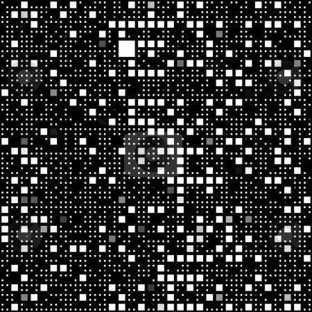 Black and white block pattern stock photo, Seamless texture of many small white and grey blocks on black by Wino Evertz