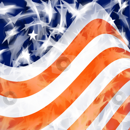 American Flag stock photo, An American Flag Background Design by Binkski Art
