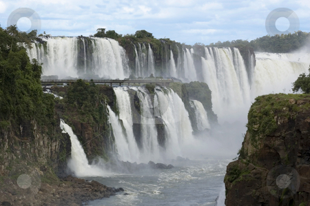 Iguazu Waterfalls in Argentina stock photo, The massive waterfalls of Iguazu, Argentina, cut their way through the tropical jungle by Lee Torrens