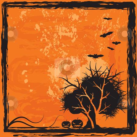Halloween background stock vector clipart, Halloween scary background, vector illustration by Milsi Art