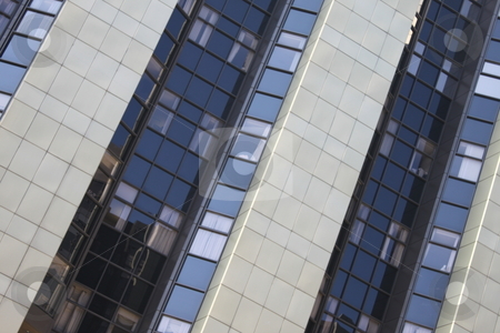 Office Building stock photo, Diagonal view of a large office building by Henrik Lehnerer