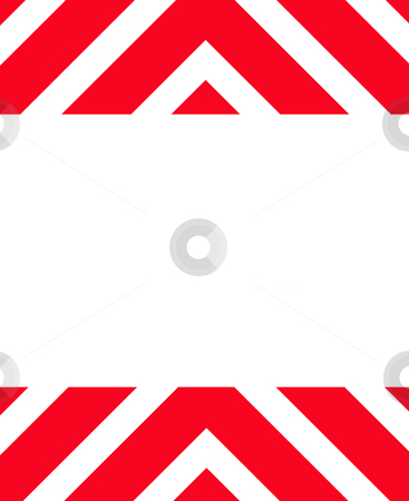 Red Hazard warning sign stock photo, Red Hazard warning sign isolated on white background with copy space. by Martin Crowdy