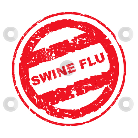 Used Swine Flu stamp stock photo, Used swine flu stamp, isolated on white background. by Martin Crowdy