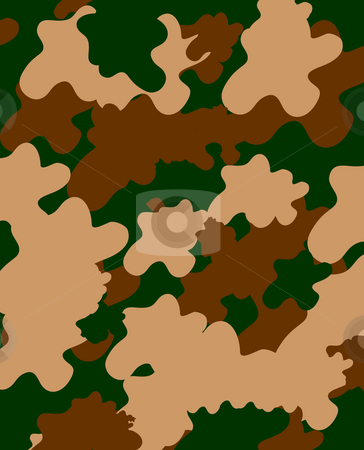 Khaki camouflage stock photo, Combat soldier khaki camouflage seamless background. by Martin Crowdy