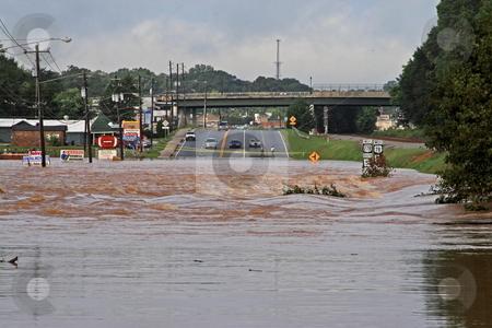 Flood Disaster stock photo, Rains flooding bankhead hwy Austell Ga by Jack Schiffer