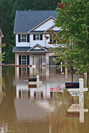 Flood Disaster stock photo, Rains follding bankhead hwy Austell Ga by Jack Schiffer