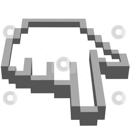 Computer hand cursor points at the user stock vector clipart, THIS MEANS YOU - a computer hand pixel cursor points straight at you the viewer. by Michael Brown