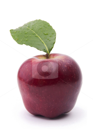 Fresh Apple stock photo, Red Apple Fresh Fruit On White Background by Adam Radosavljevic