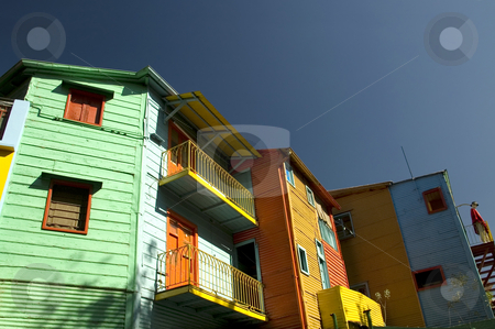 Caminito - La Boca, Buenos Aires stock photo, Buildings with colorful painted facades line the famous Caminito in historic La Boca in the Argentinean capital Buenos Aires by Lee Torrens