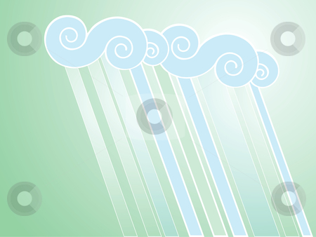 Soft Rain Background stock vector clipart, Softly colored desktop background with rain patterns. by Jeffrey Thompson