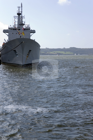 HMNB Devonport stock photo, Warship in Her Majestys Naval Base Devonport in Plymouth by Stephen Meese