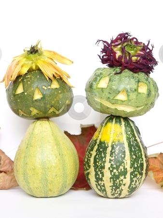 Halloween Pumpkin People stock photo, A funny Halloween couple by Lars Kastilan