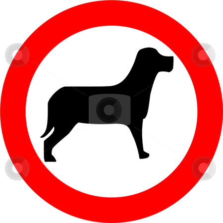 No Dogs stock vector clipart, Dogs forbidden sign isolated over white background by Andre Janssen