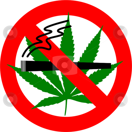No Smoking stock vector clipart, No cannabis sign isolated over white background by Andre Janssen