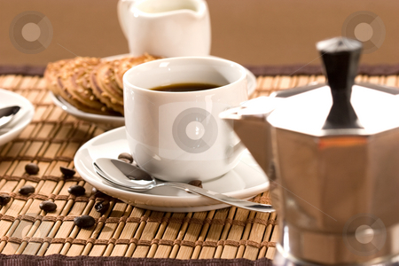 Coffee stock photo, Drink series: cup of coffee, hot espresso by Gennady Kravetsky