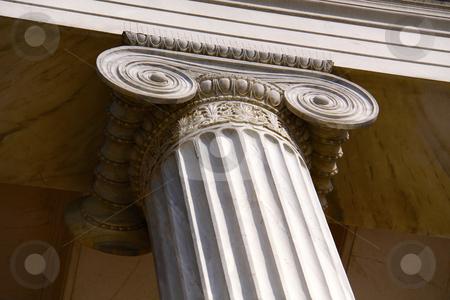 University building pillar in Athens  stock photo,  by Stefanos Kyriazis
