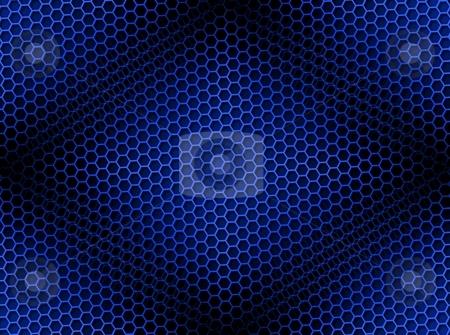 Honeycomb Background Seamless Blue stock photo, Seamless blue honeycomb on brown background with light effect. by Henrik Lehnerer
