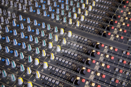 Music mixing pult stock photo, Pro mixing pult at a recording studio by Daniel Kafer