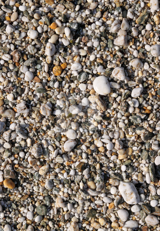 Close up of lots of wet pebbles on a beach. stock photo, Close up of lots of wet pebbles on a beach. by Stephen Rees
