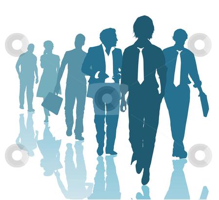 Teamwork stock vector clipart, Group of young business people Teamwork Business team by Čerešňák