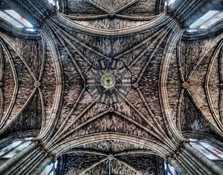 Cathedral ceiling stock photo, Ceiling of the St. Louis des Chartrons  Cathedral in  Bordeaux by Laurent Dambies