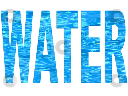 Water Font Stock Photo